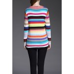 cheap Single Breasted Colorful Cardigan