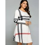 Casual Plus Size Striped Long Sleeve T-Shirt Dress deal