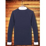 cheap Knitting Crew Neck Long Sleeve Sweater