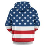 cheap Stars and Stripes Pattern Long Sleeve Hoodie