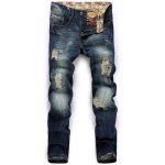 Straight Leg Zip Fly Distressed Jeans