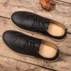 Lace-Up Engraving Dark Colour Casual Shoes for sale