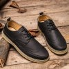 Lace-Up Engraving Dark Colour Casual Shoes deal