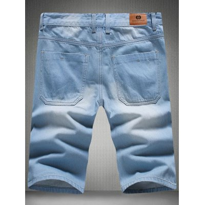 Stylish Light Wash Slim Fit Denim Shorts For MenMens Shorts<br>Stylish Light Wash Slim Fit Denim Shorts For Men<br><br>Style: Casual<br>Length: Knee-Length<br>Material: Jeans<br>Fit Type: Regular<br>Waist Type: Mid<br>Closure Type: Zipper Fly<br>Front Style: Pleated<br>With Belt: No<br>Weight: 0.500kg<br>Package Contents: 1 x Shorts
