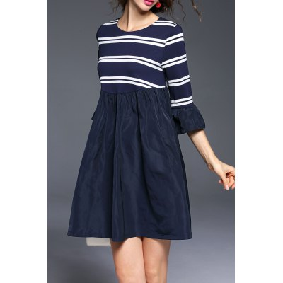 Stripe Mini Smock Dress