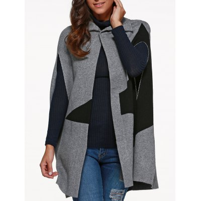 Star Cape Coat with Button