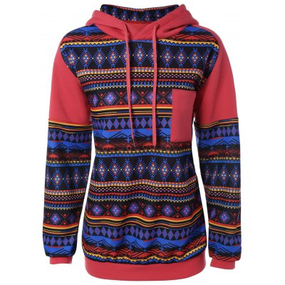 Geometric Pattern Thick Hoodie