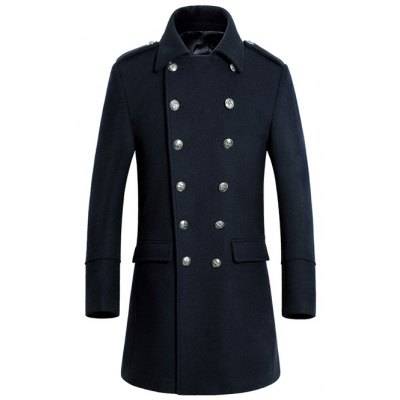 Turn-Down Collar Woolen Coat