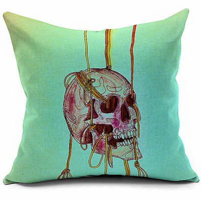Creative Halloween Skull Printed Sofa Cushion Pillow Case