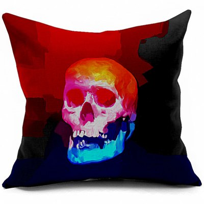 Vintage Skull Printed Sofa Cushion Pillow Case