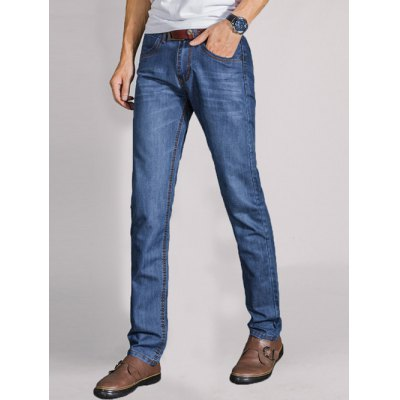 Zip Fly Spliced Pocket Jeans
