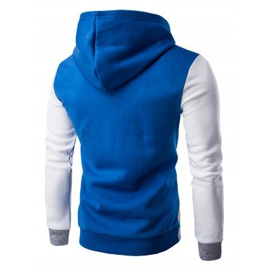 Slim Fit Color Block Pullover HoodieMens Hoodies &amp; Sweatshirts<br>Slim Fit Color Block Pullover Hoodie<br><br>Material: Cotton Blends<br>Clothing Length: Regular<br>Sleeve Length: Full<br>Style: Casual<br>Weight: 0.550kg<br>Package Contents: 1 x Hoodie