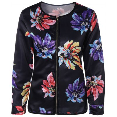 Fitting Ethnic Floral Jacket