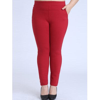 Plus Size Skinny Elastic Waist Pencil Pants