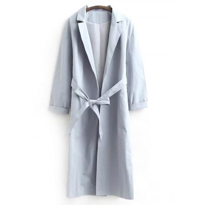 Belted Casual Trench Coat