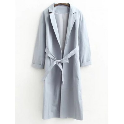 Belted Raglan Sleeve Trench Coat