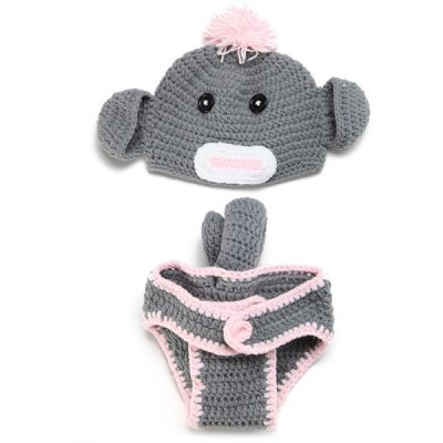 Crochet Baby Photography Clothes Set