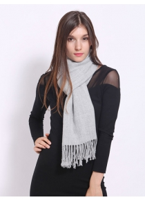 Casual Faux Cashmere Fringe Scarf
