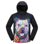 Puppy 3D Print Hooded Zip Up Jacket