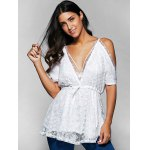 Spaghetti Straps Cold Shoulder Lace Top deal