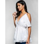 Spaghetti Straps Cold Shoulder Lace Top for sale