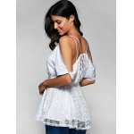 best Spaghetti Straps Cold Shoulder Lace Top