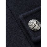 best Turn-Down Collar Button Embellished Woolen Coat