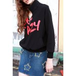 Cotton Graphic Zipper Sweatshirt for sale
