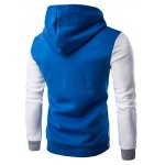 cheap Slim Fit Color Block Pullover Hoodie