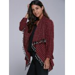 Plaid Tassel Cardigan deal