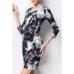 Bodycon Ruched Print Dress deal