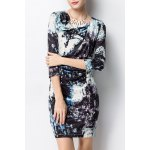 Bodycon Ruched Print Dress for sale