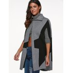 cheap Star Cape Coat with Button