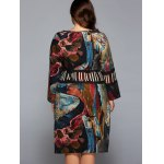 Plus Size Oil Painting Long Sleeve Dress for sale