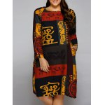 Plus Size African Long Sleeve Dress