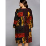 Plus Size African Long Sleeve Shift Dress for sale
