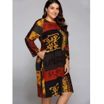 Plus Size African Long Sleeve Shift Dress deal