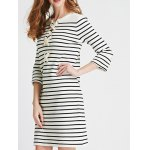 Lace Up Striped Knit Dress deal