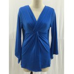 Plus Size Twisted Asymmetric Sleeves Blouse