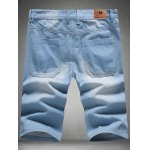 cheap Stylish Light Wash Slim Fit Denim Shorts For Men