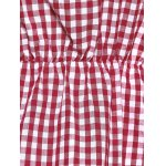 best Off The Shoulder Flare Sleeve Plaid Blouse