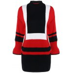 Color Block Loose Knitting Dress