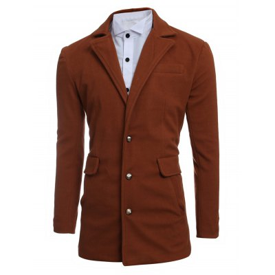 Single Breasted Lapel Slimming Woolen CoatMens Jackets &amp; Coats<br>Single Breasted Lapel Slimming Woolen Coat<br><br>Clothes Type: Wool &amp; Blends<br>Style: Fashion<br>Material: Cotton,Polyester,Wool<br>Collar: Turn-down Collar<br>Clothing Length: Long<br>Sleeve Length: Long Sleeves<br>Season: Winter<br>Weight: 0.950kg<br>Package Contents: 1 x Coat