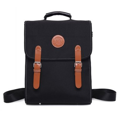 Double Buckle Nylon Backpack