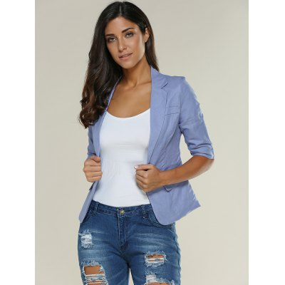 3/4 Sleeve One Button Breathable Blazer