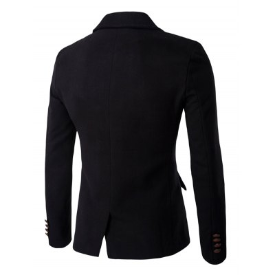Contrast Button Wool Blend BlazerMens Blazers<br>Contrast Button Wool Blend Blazer<br><br>Material: Cotton Blends,Wool<br>Clothing Length: Regular<br>Sleeve Length: Long Sleeves<br>Closure Type: Single Breasted<br>Weight: 0.850kg<br>Package Contents: 1 x Blazer