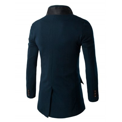 Slim-Fit Double Collar Flap Pocket CoatMens Jackets &amp; Coats<br>Slim-Fit Double Collar Flap Pocket Coat<br><br>Clothes Type: Others<br>Style: Casual<br>Material: Cotton Blends,Polyester<br>Collar: Stand Collar<br>Clothing Length: Long<br>Sleeve Length: Long Sleeves<br>Season: Winter<br>Weight: 0.750kg<br>Package Contents: 1 x Coat