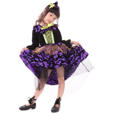 Kids Midi Halloween Witch Cosplay Dress