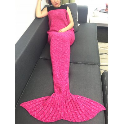 Warmth Crochet Knitted Mermaid Tail Blanket