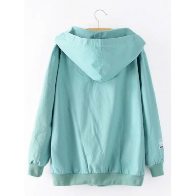 Hooded Letter Cartoon Embroidered JacketPlus Size Outerwear<br>Hooded Letter Cartoon Embroidered Jacket<br><br>Clothes Type: Jackets<br>Material: Acrylic<br>Type: Wide-waisted<br>Clothing Length: Regular<br>Sleeve Length: Full<br>Collar: Hooded<br>Pattern Type: Letter<br>Embellishment: Embroidery<br>Style: Fashion<br>Season: Fall,Spring<br>With Belt: No<br>Weight: 0.520kg<br>Package Contents: 1 x Jacket
